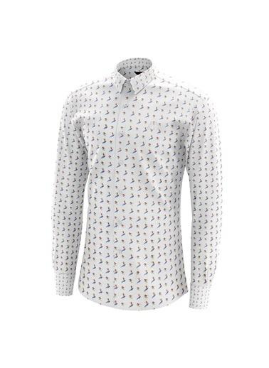 Robe di Kappa Rdk Gömlek Ferro  Turuncu Çızgılı Beyaz